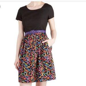 ModCloth Drawn to Style Dress